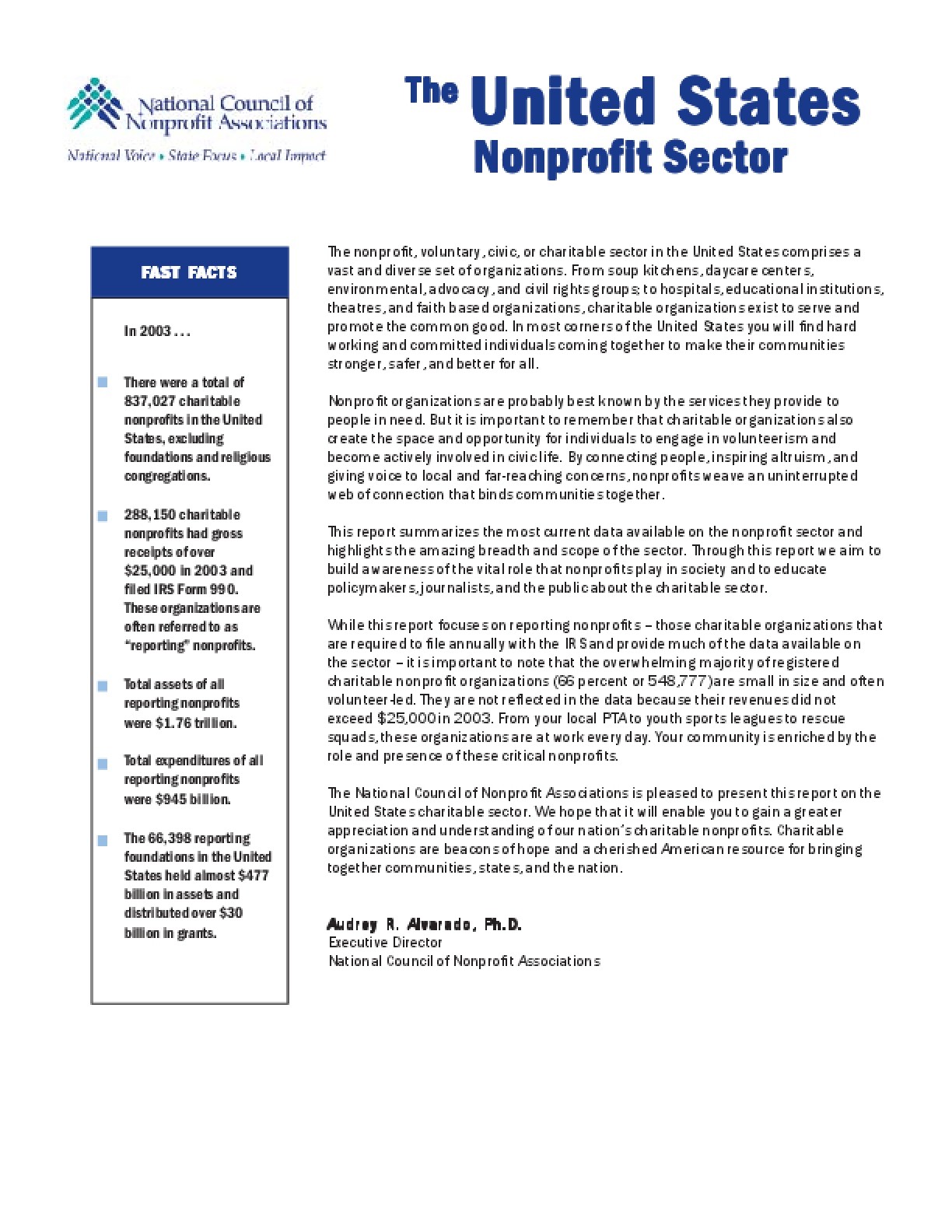 The United States Nonprofit Sector