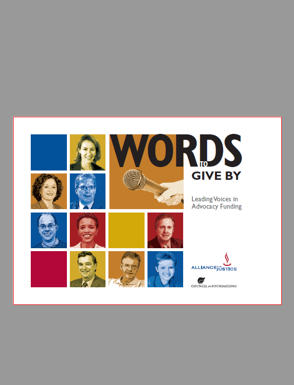 Words to Give By: Leading Voices in Advocacy Funding