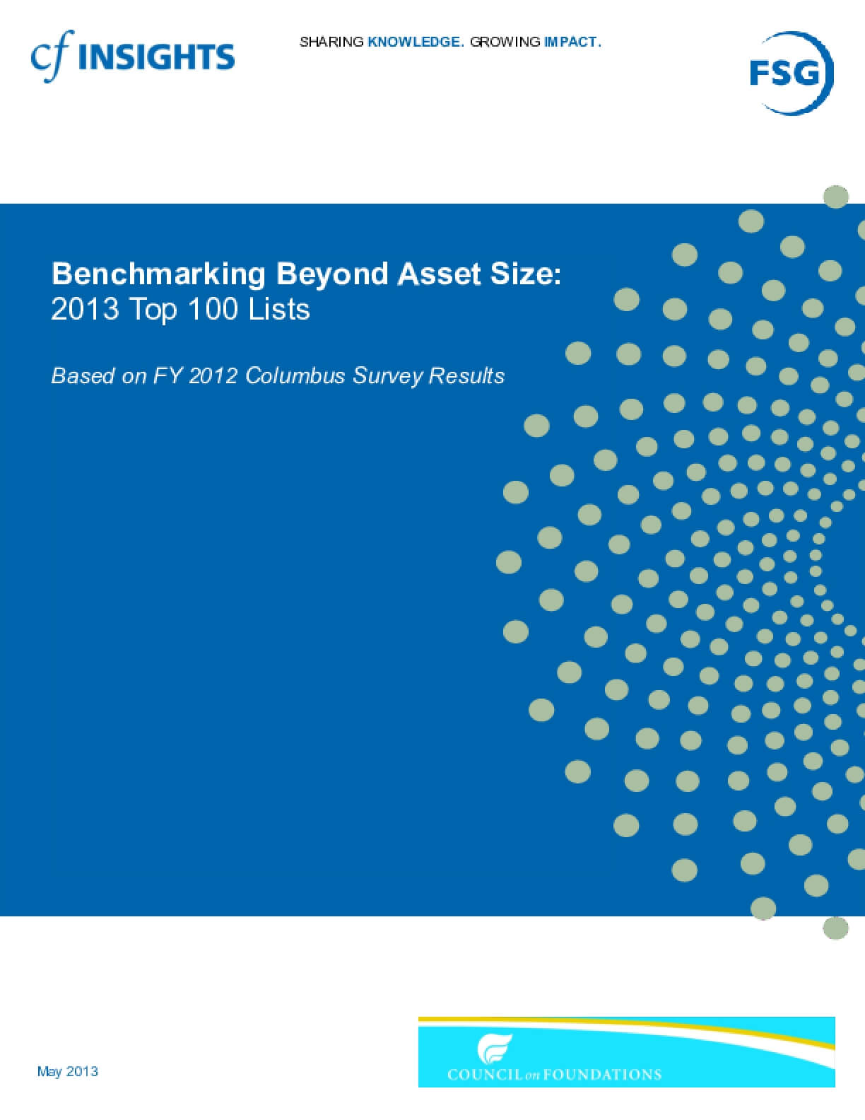 Benchmarking Beyond Asset Size Top 100 Lists - FY 2012