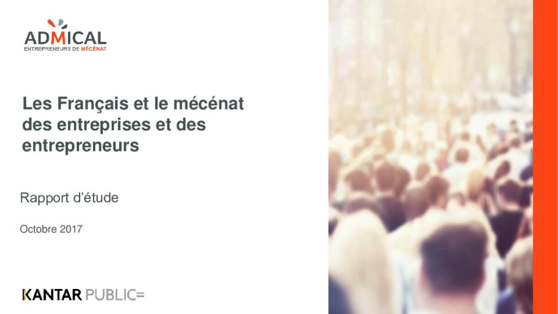Les Français et le Mécénat des Entreprises et des Entrepreneurs : Rapport d'Etude