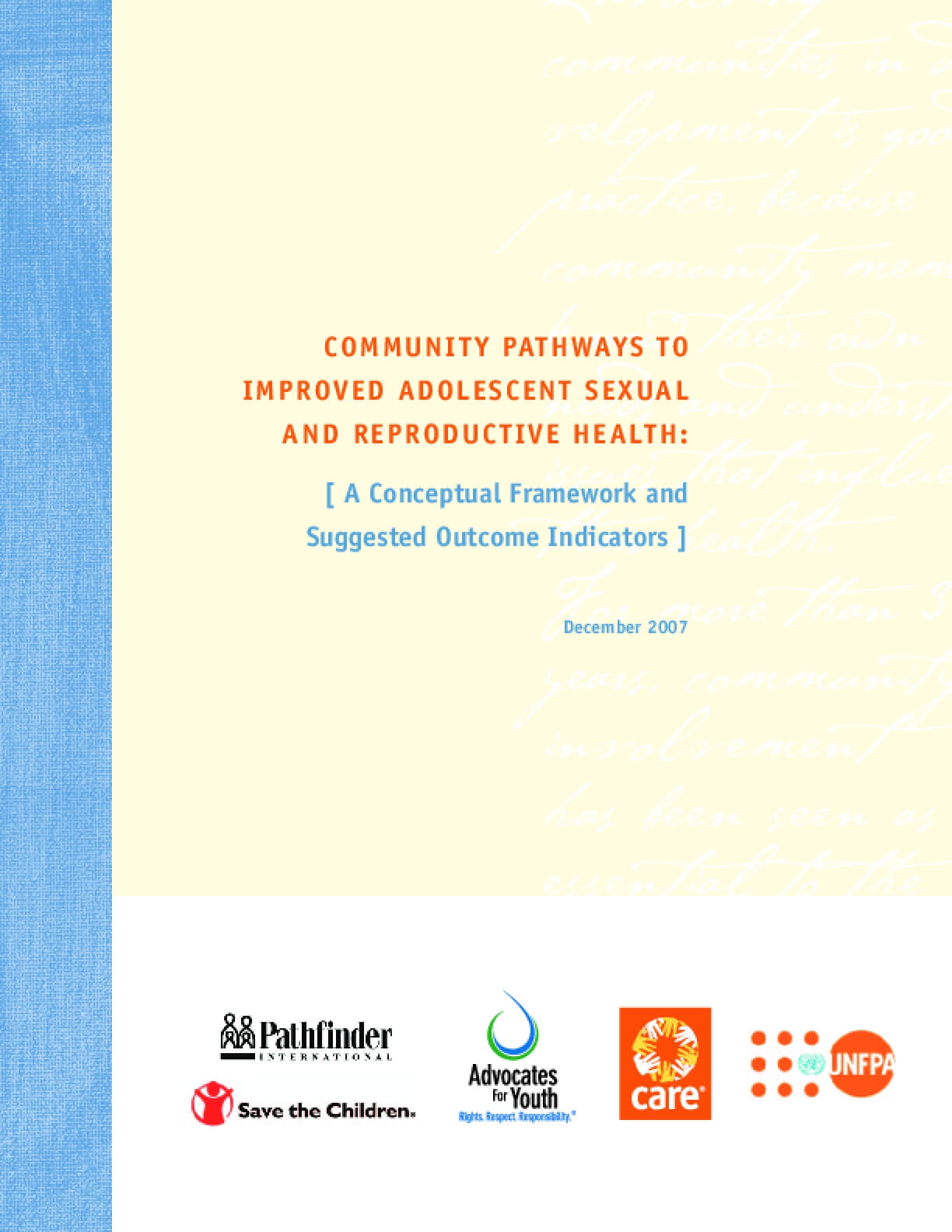 Community Pathways to Improved Adolescent Sexual and Reproductive Health