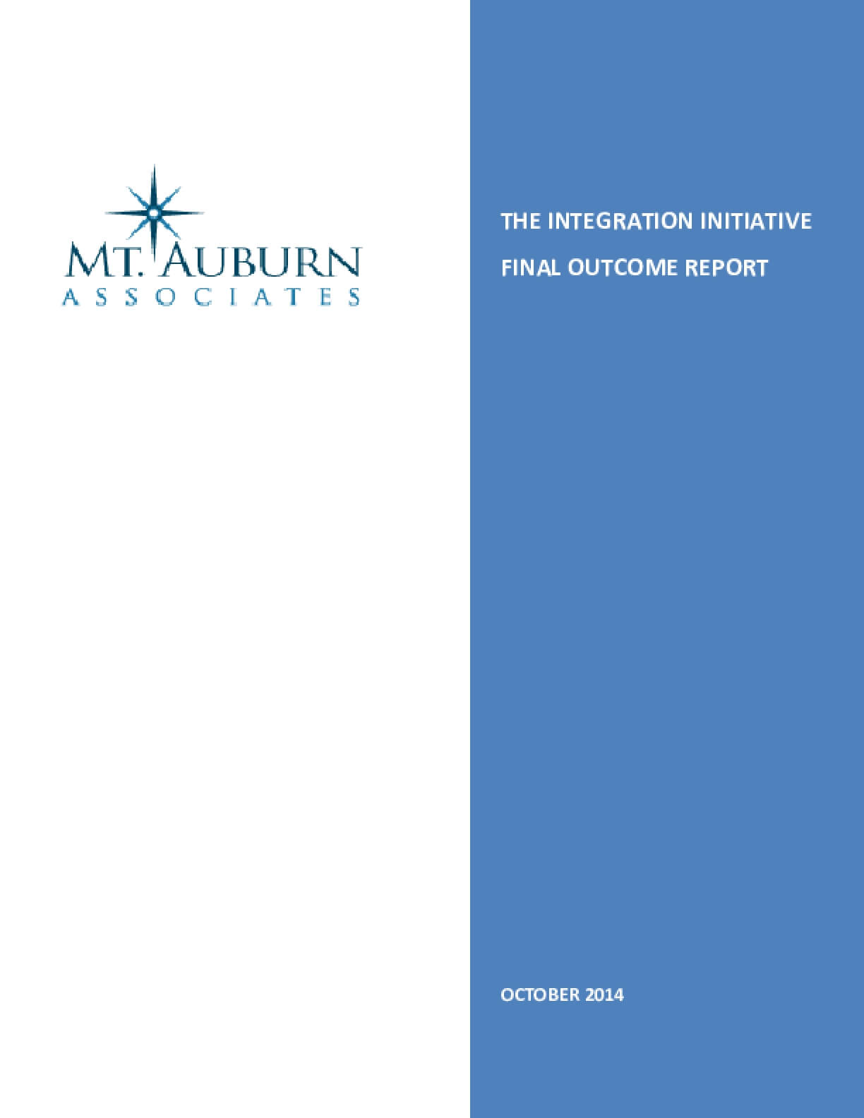 The Integration Initiative Final Outcome Report