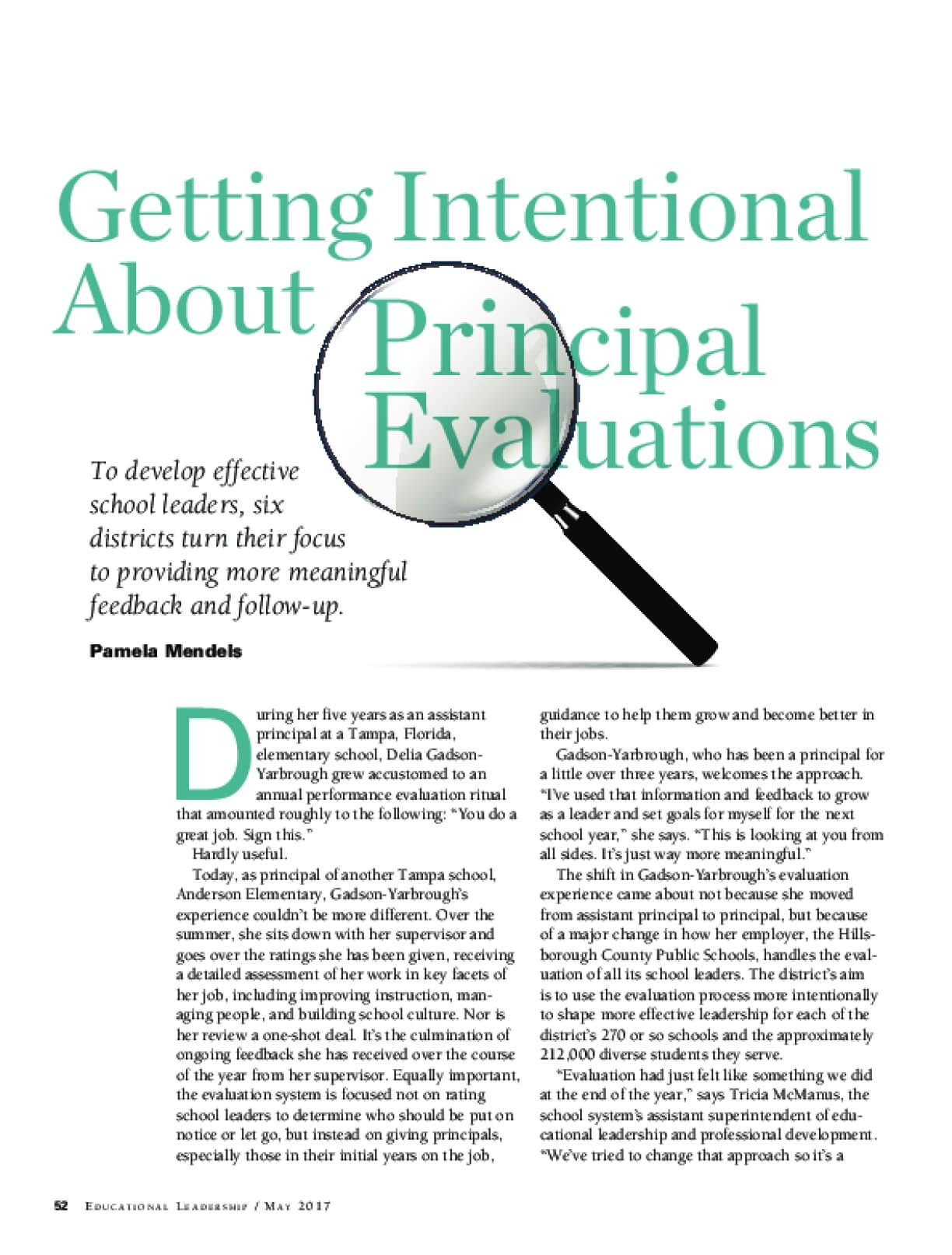 Getting Intentional About Principal Evaluations