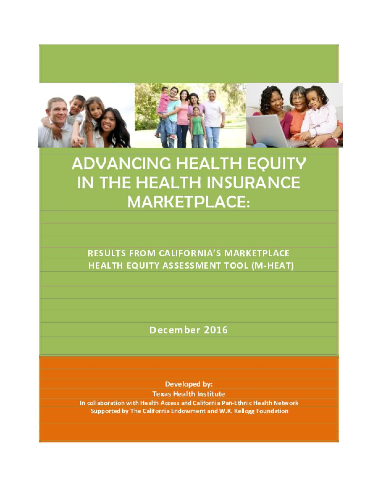 Advancing Health Equity in the Health Insurance Marketplace: Results from California's Marketplace Health Equity Assessment Tool (M-HEAT)