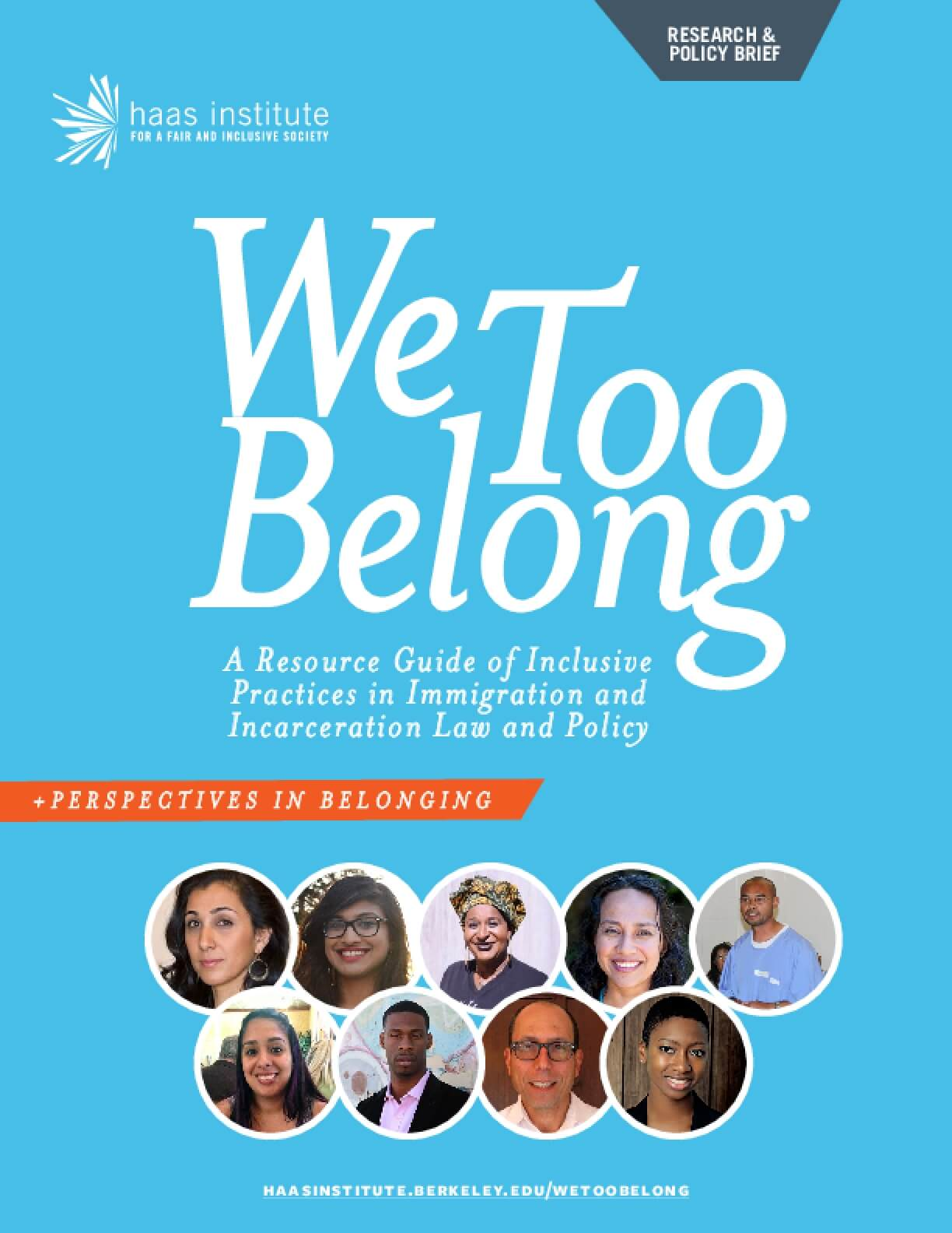 We Too Belong: Resource Guide of Inclusive Practices in Immigration and Incarceration Law & Policy