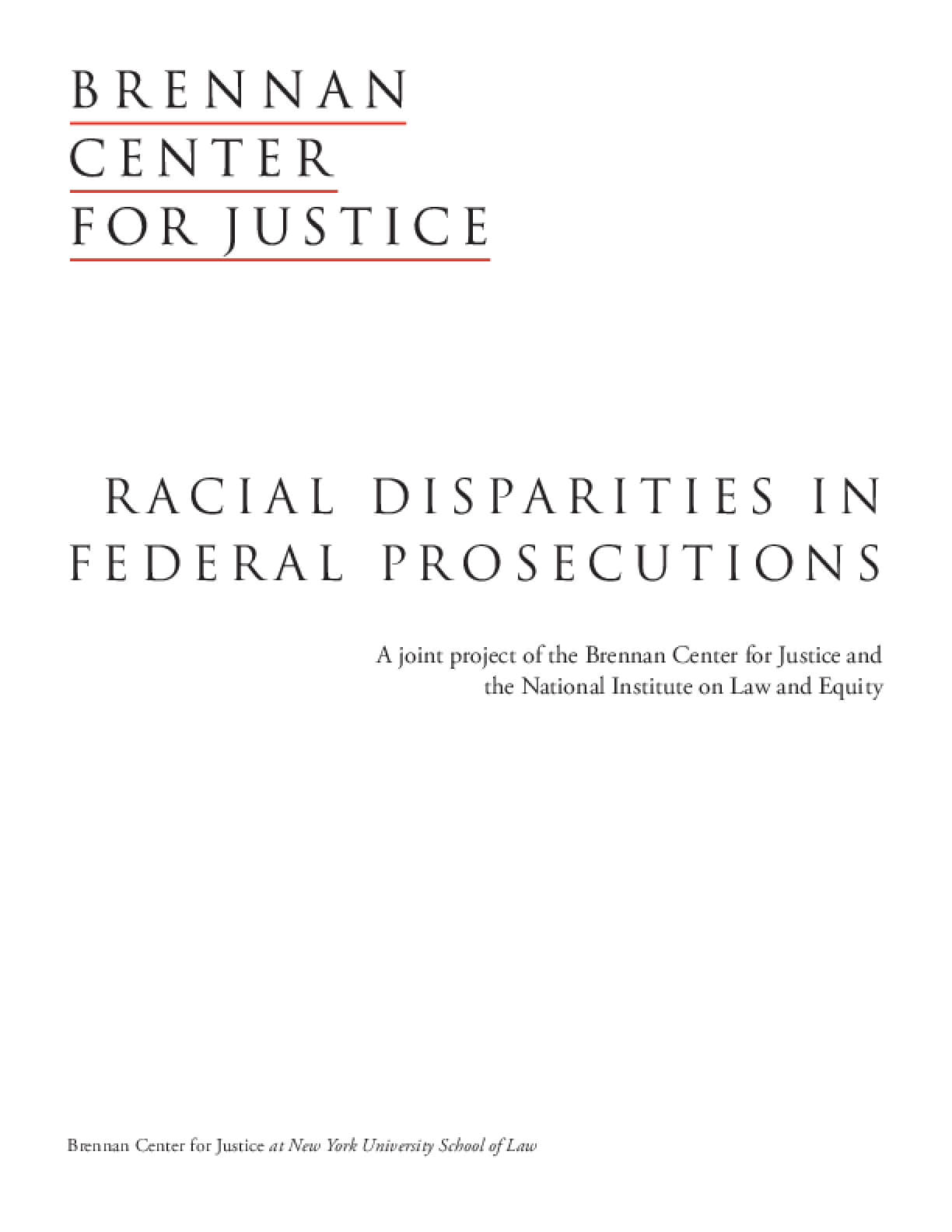 Racial Disparities in Federal Prosecutions