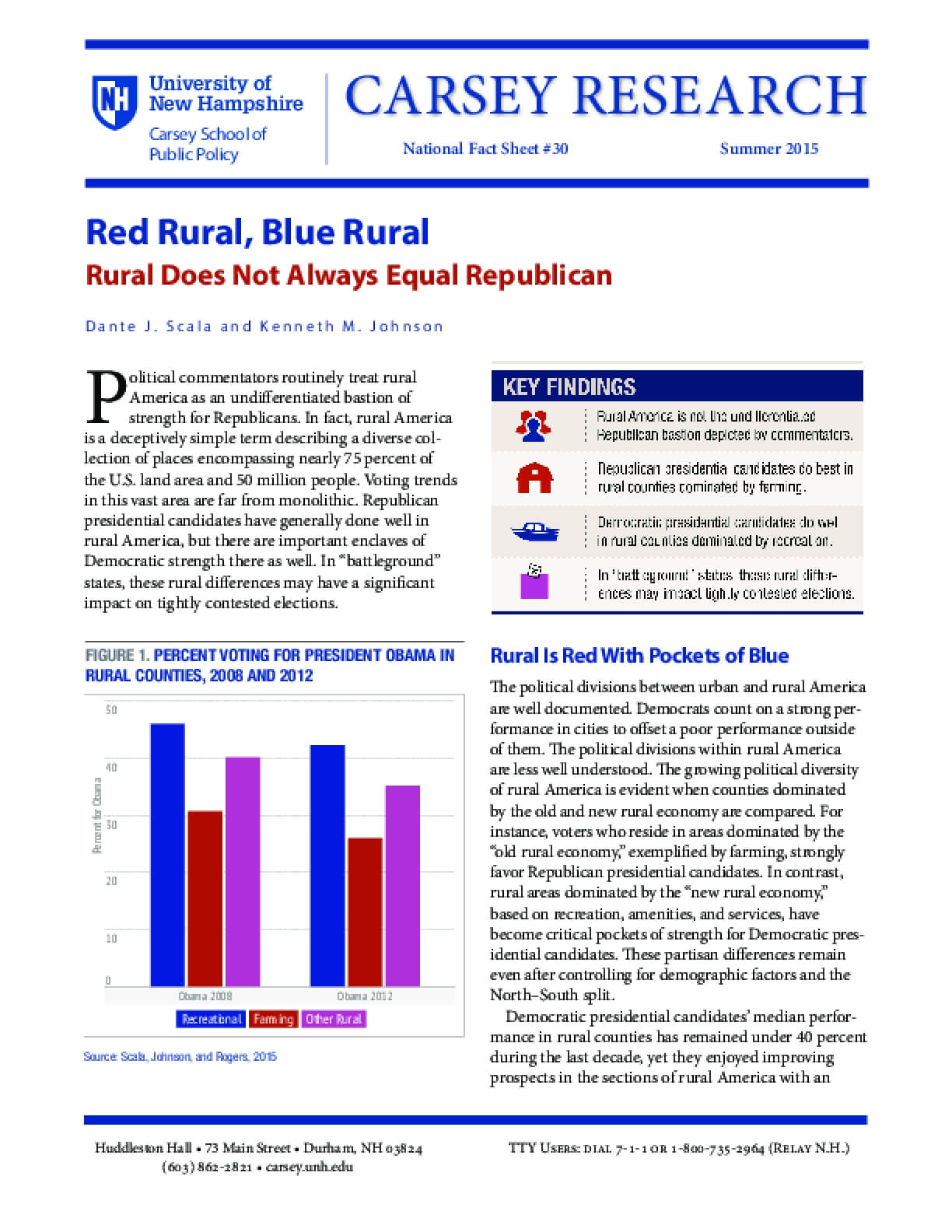 Red Rural, Blue Rural Fact Sheet