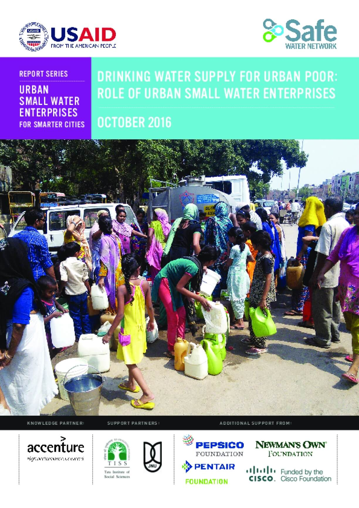 Drinking Water Supply for Urban Poor: Role of Urban Small Water Enterprises