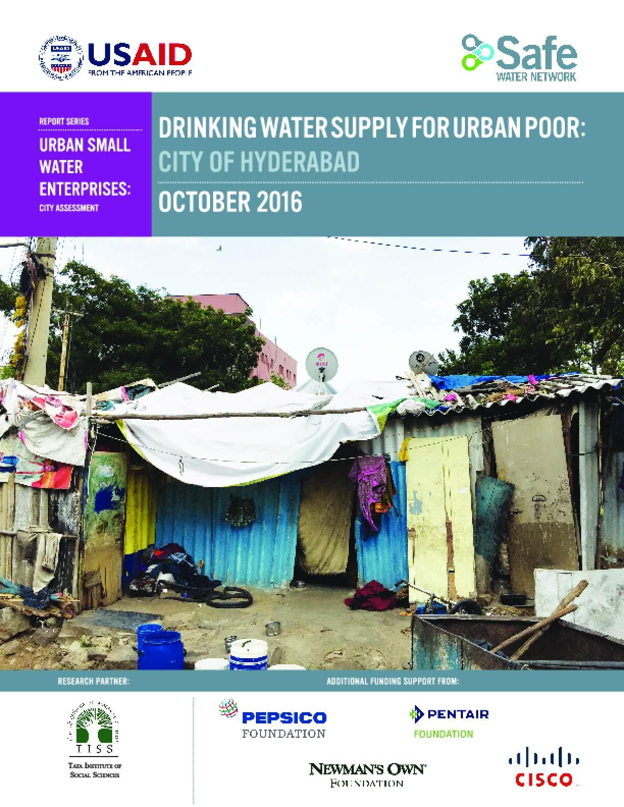 Drinking Water Supply for Urban Poor: City of Hyderabad