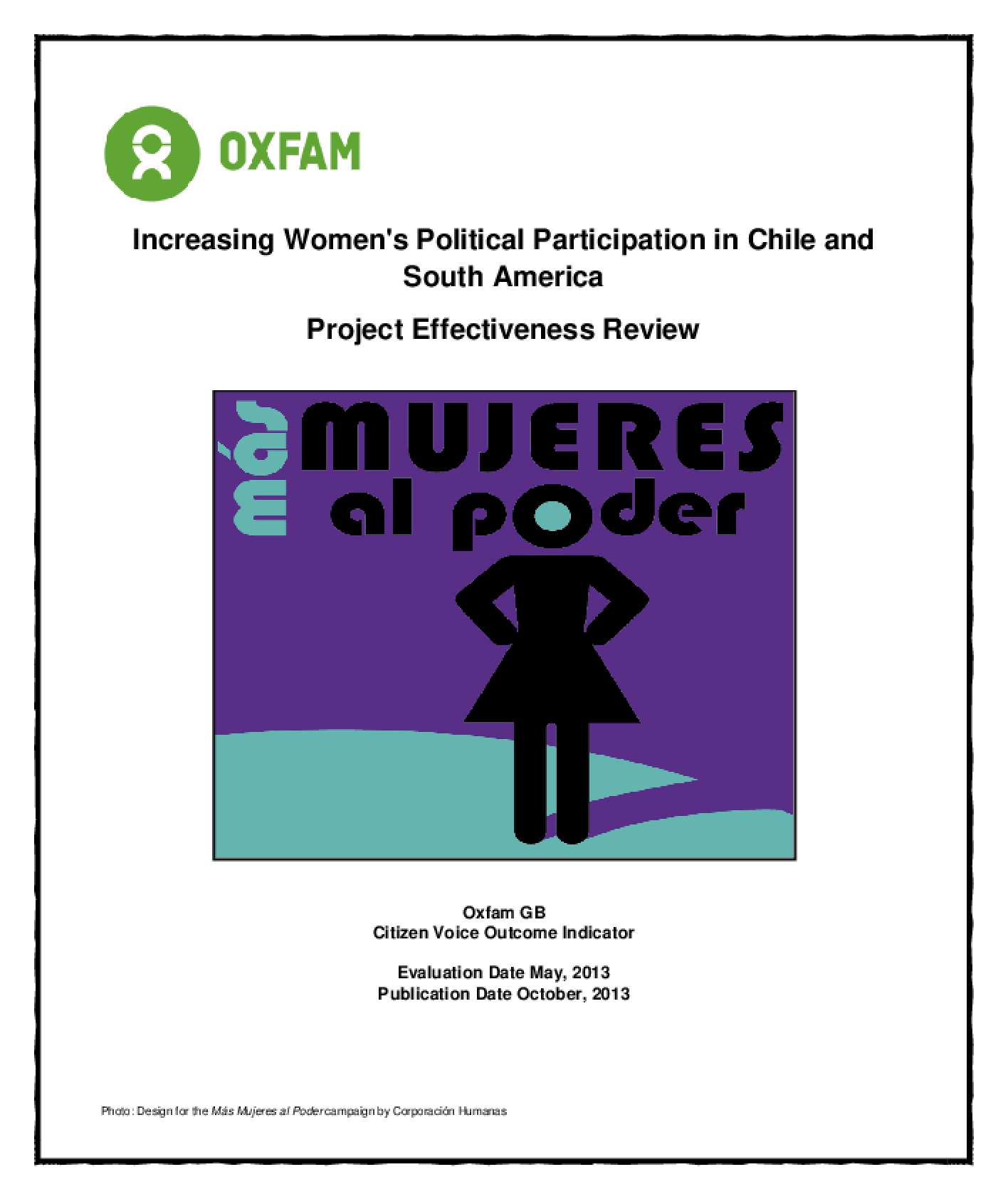 Effectiveness Review: Increasing Women's Political Participation in Chile and South America