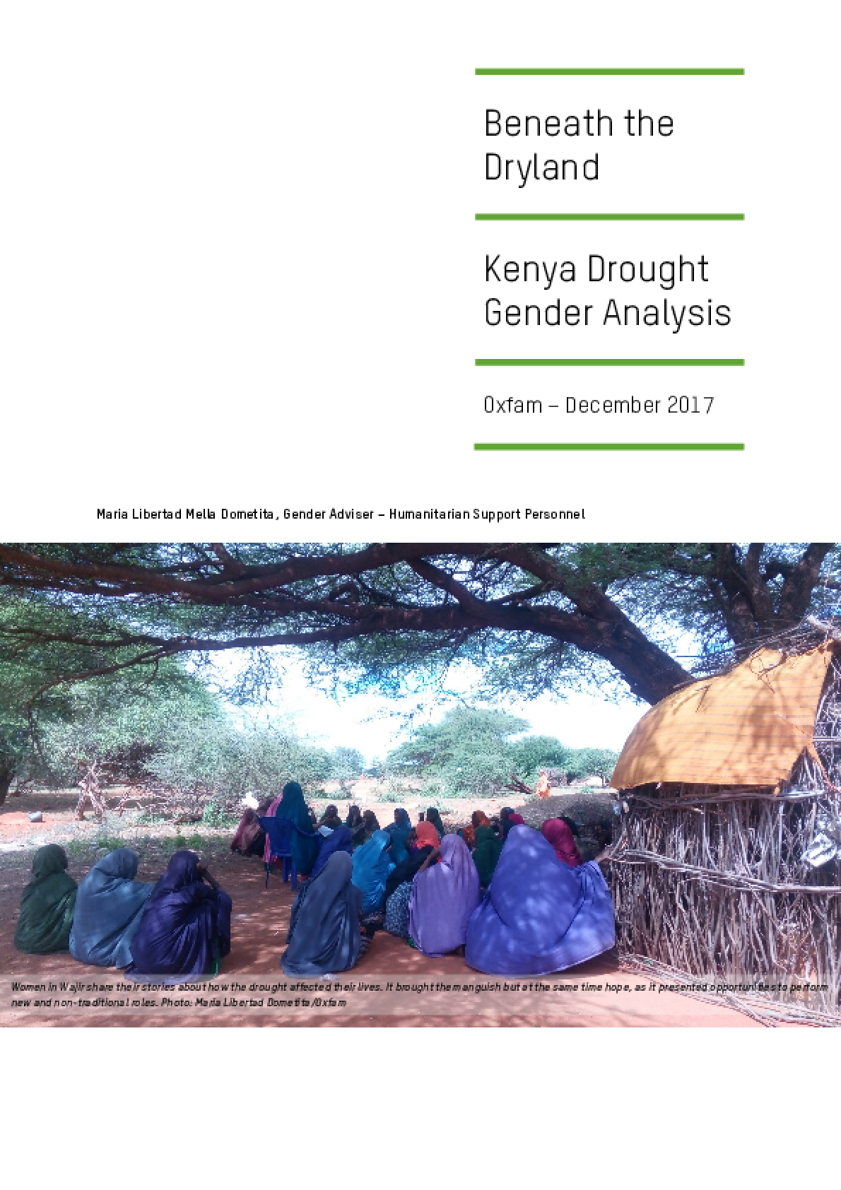 Beneath the Dryland: Kenya drought gender analysis