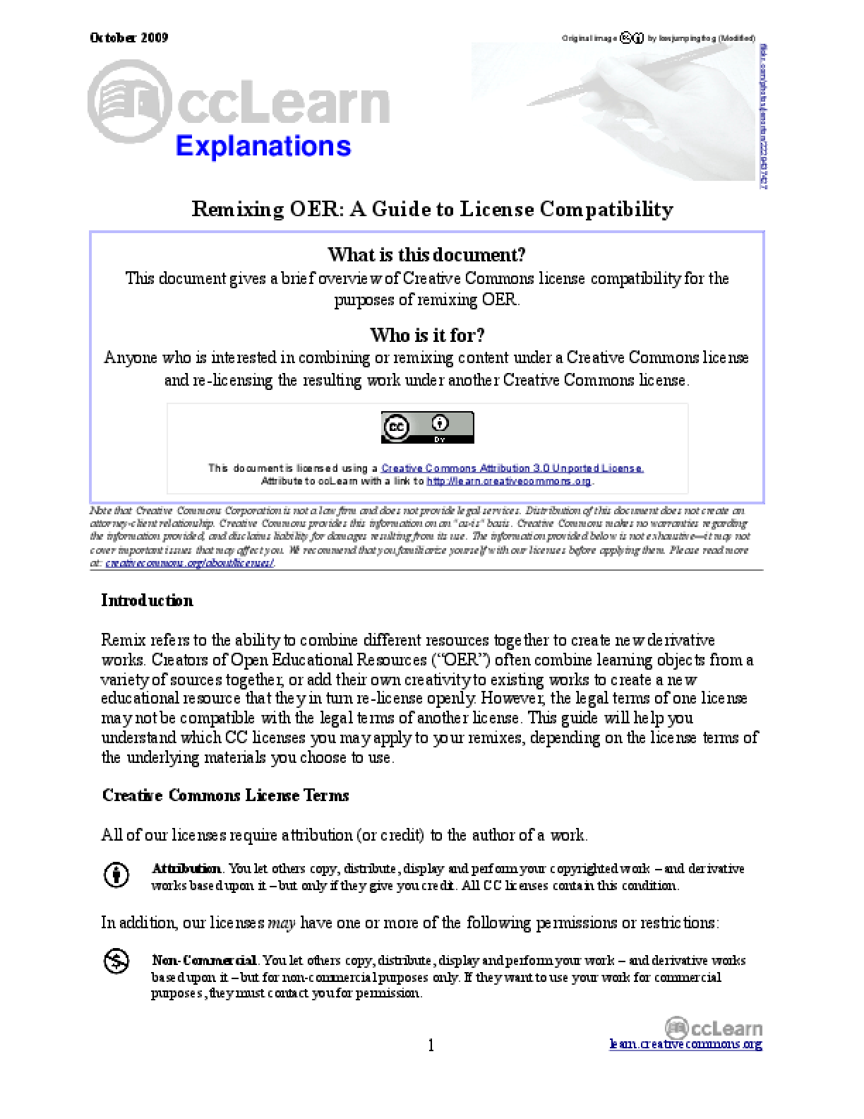 Remixing OER: A Guide to License Compatibility