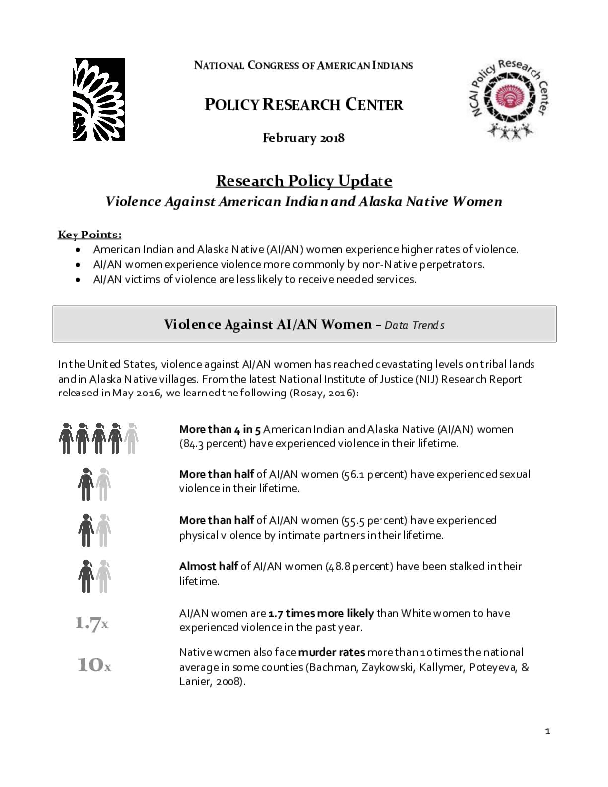 Violence Against American Indian and Alaska Native Women