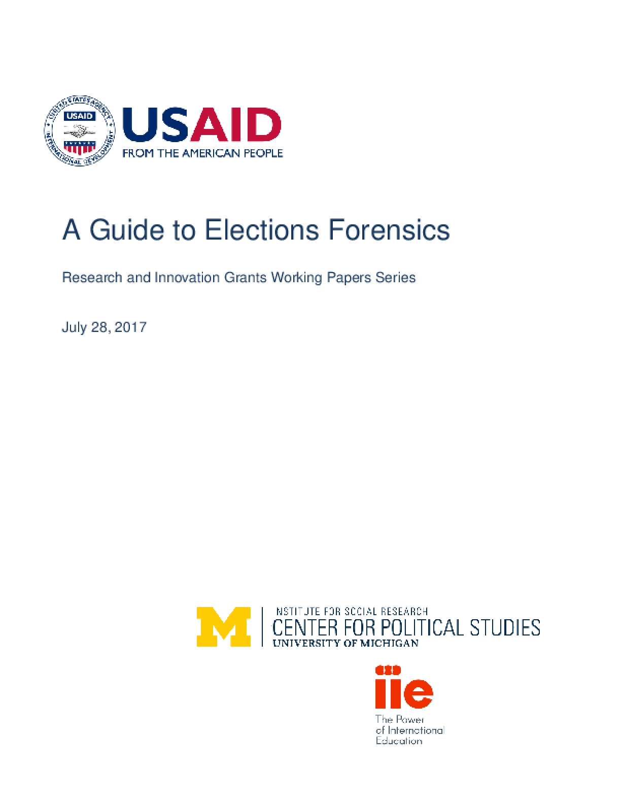 Election Forensics Toolkit and Guide (2017)