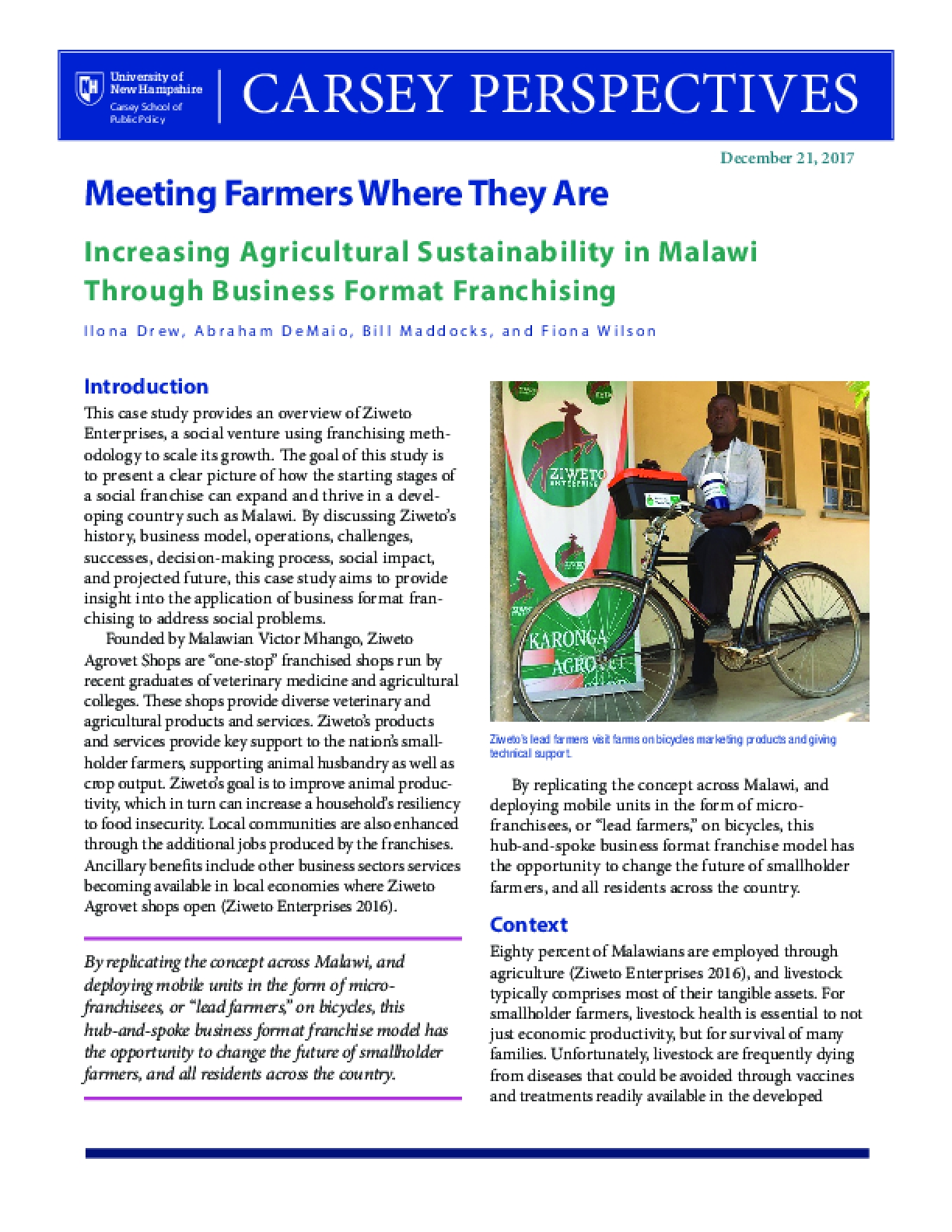 Carsey Perspectives: Meeting Farmers Where They Are