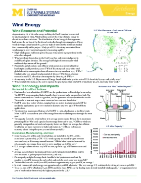 Wind Energy Factsheet