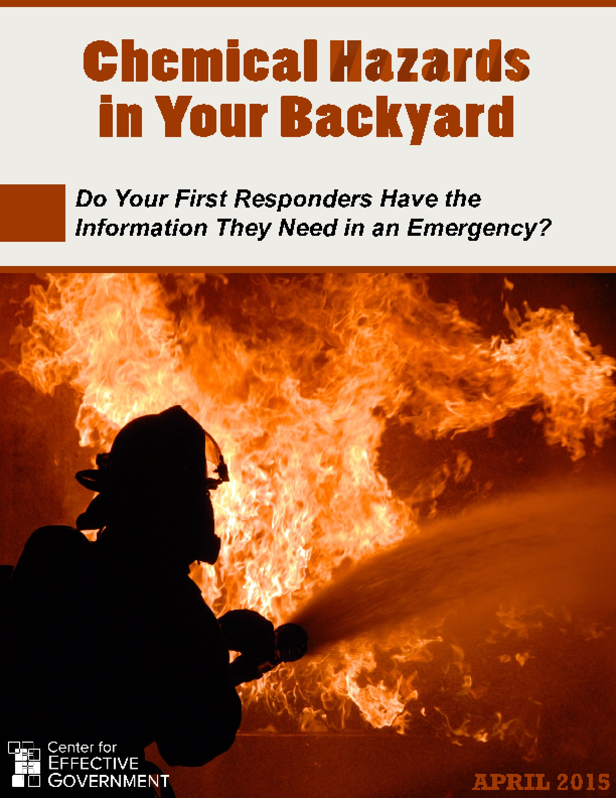 Chemical Hazards in Your Backyard: Do Your First Responders Have the Information They Need in an Emergency?