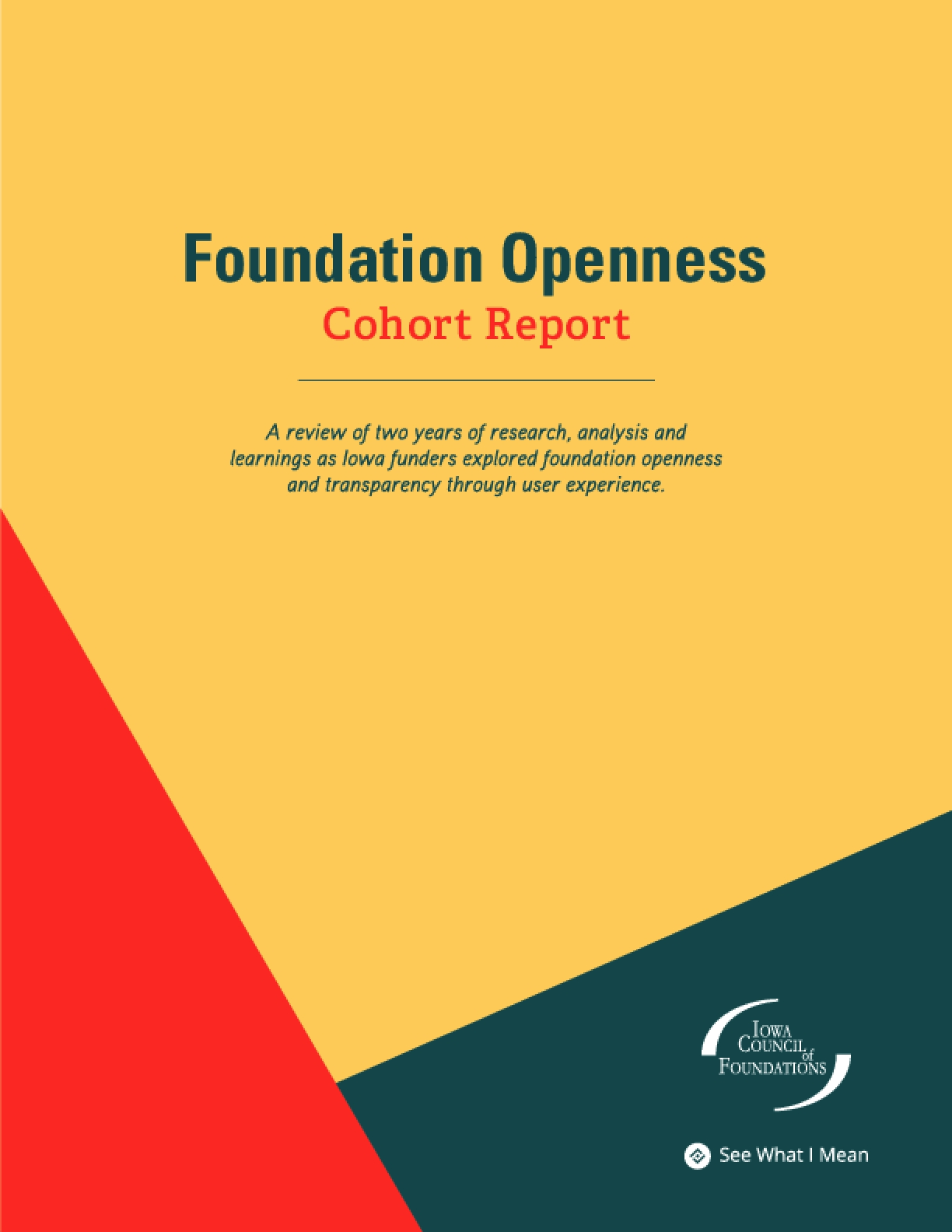 Foundation Openness Cohort Report