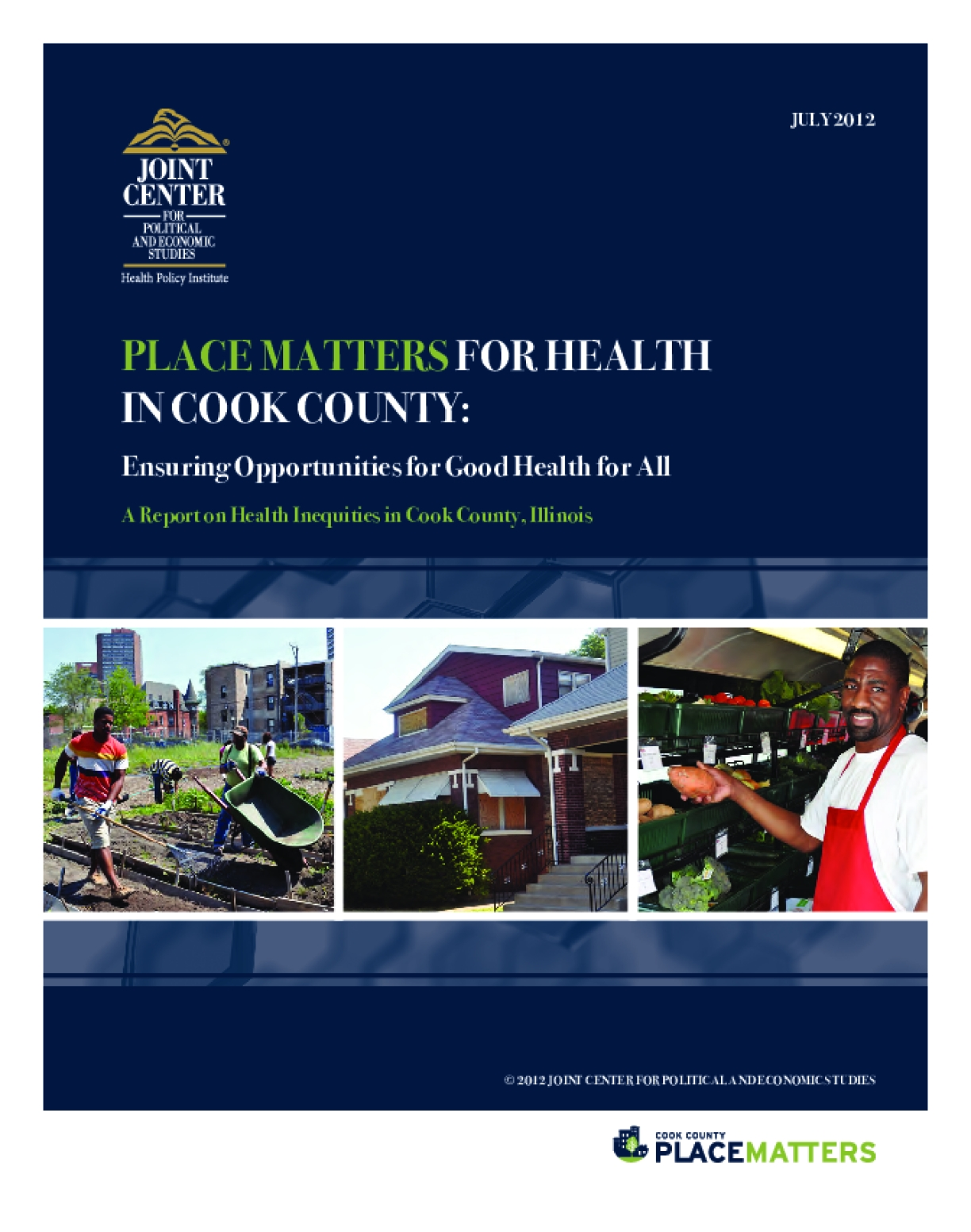 Place Matters for Health in Cook County: Ensuring Opportunities for Good Health for All, A Report on Health Inequities in Cook County, Illinois