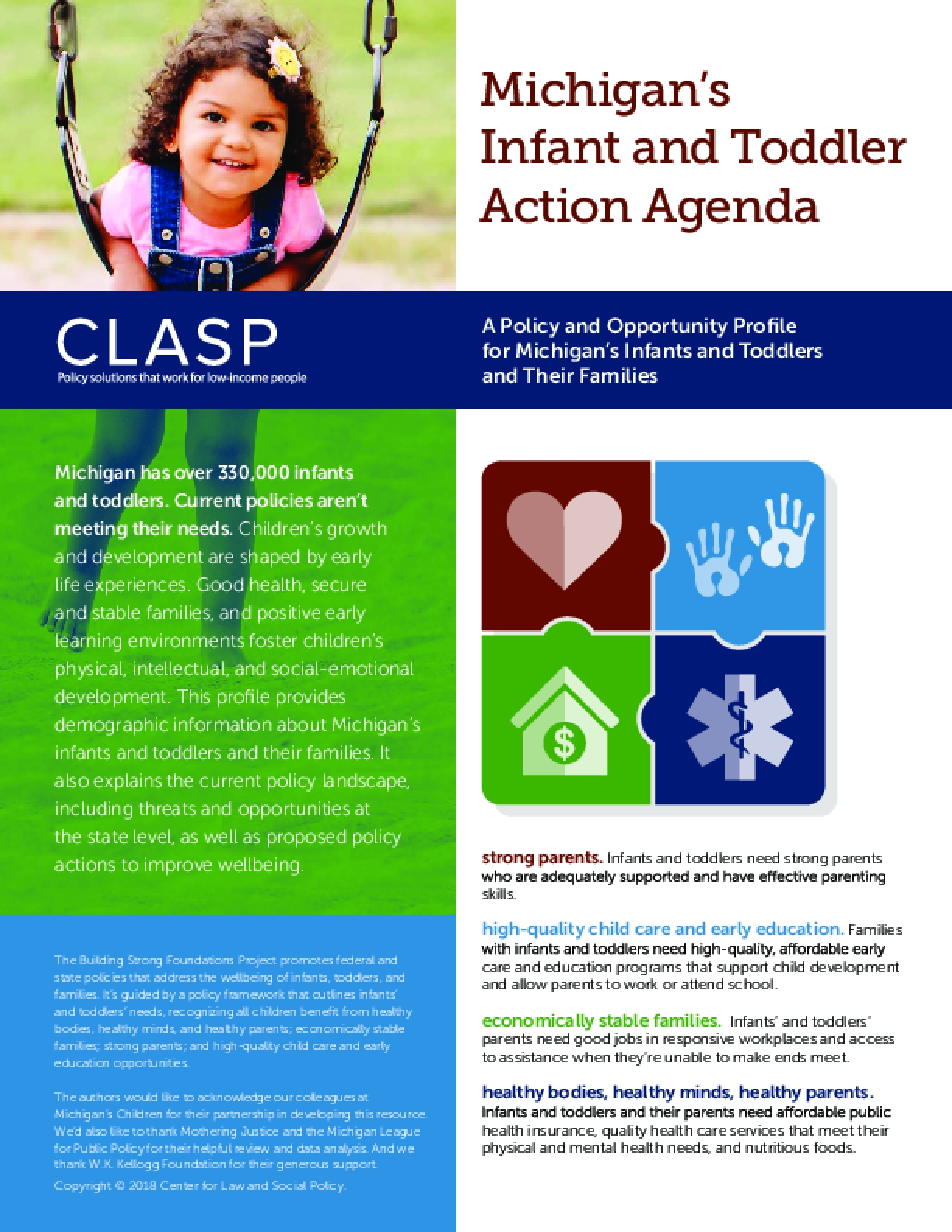 Michigan's Infant and Toddler Action Agenda: A Policy and Opportunity Profile for Michigan's Infants and Toddlers and Their Families