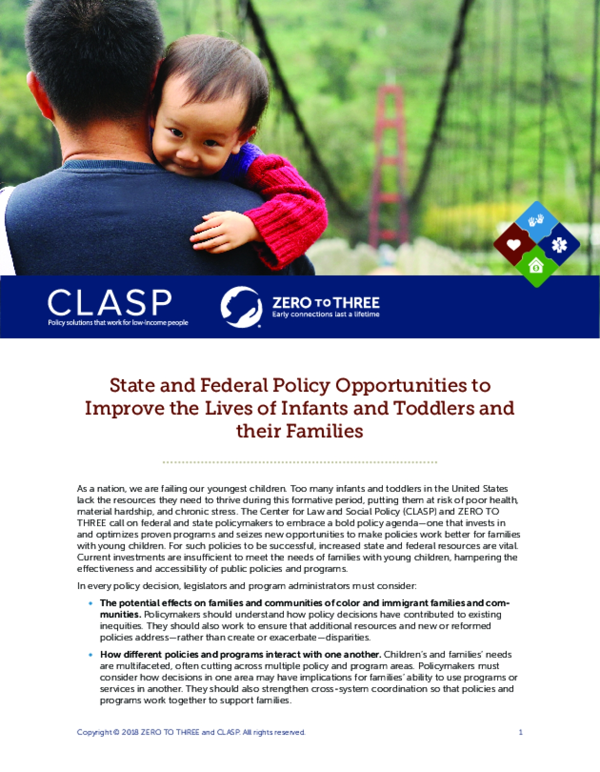 State and Federal Policy Opportunities to Improve the Lives of Infants and Toddlers and their Families