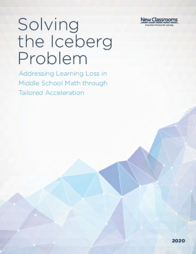 Solving the Iceberg Problem : Addressing Learning Loss in Middle School Math through Tailored Acceleration