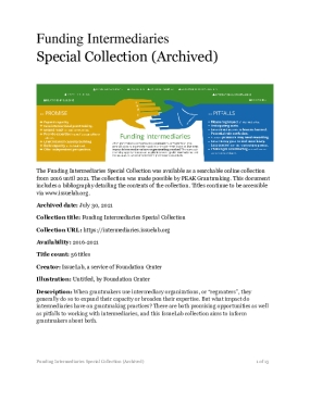 Funding Intermediaries  Special Collection (Archived)