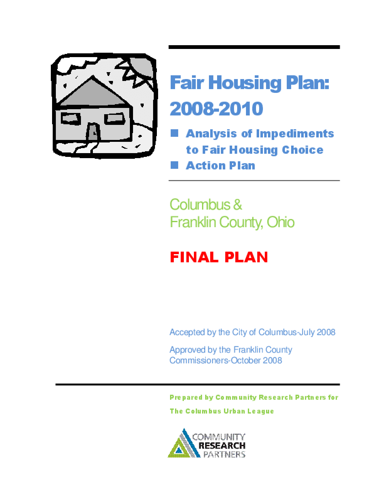 Fair Housing Plan: Columbus and Franklin County, Ohio