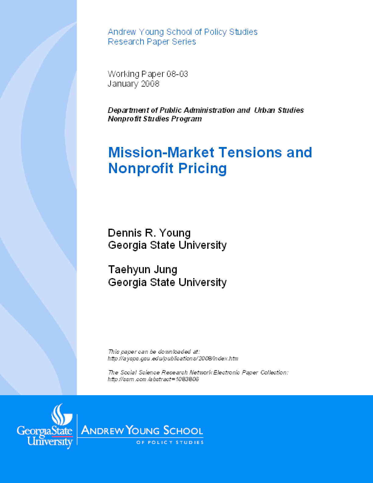 Mission-Market Tensions and Nonprofit Pricing