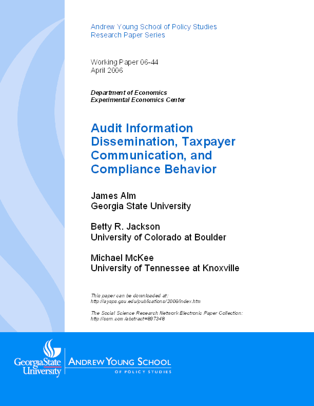 Audit Information Dissemination, Taxpayer Communication, and Compliance Behavior