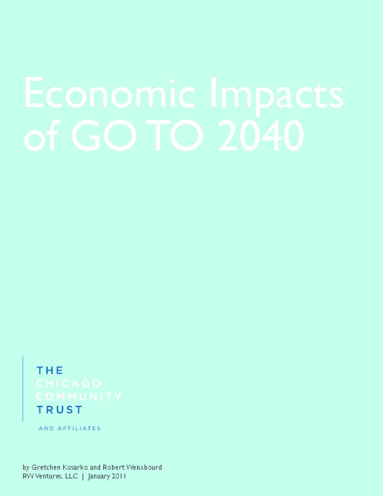 Economic Impacts of GO TO 2040