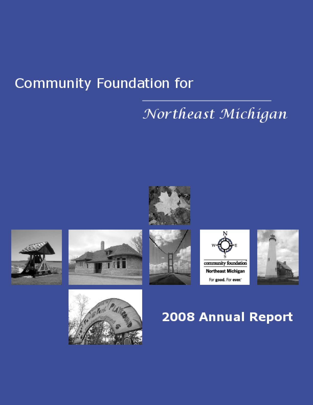 Community Foundation for Northeast Michigan - 2008 Annual Report