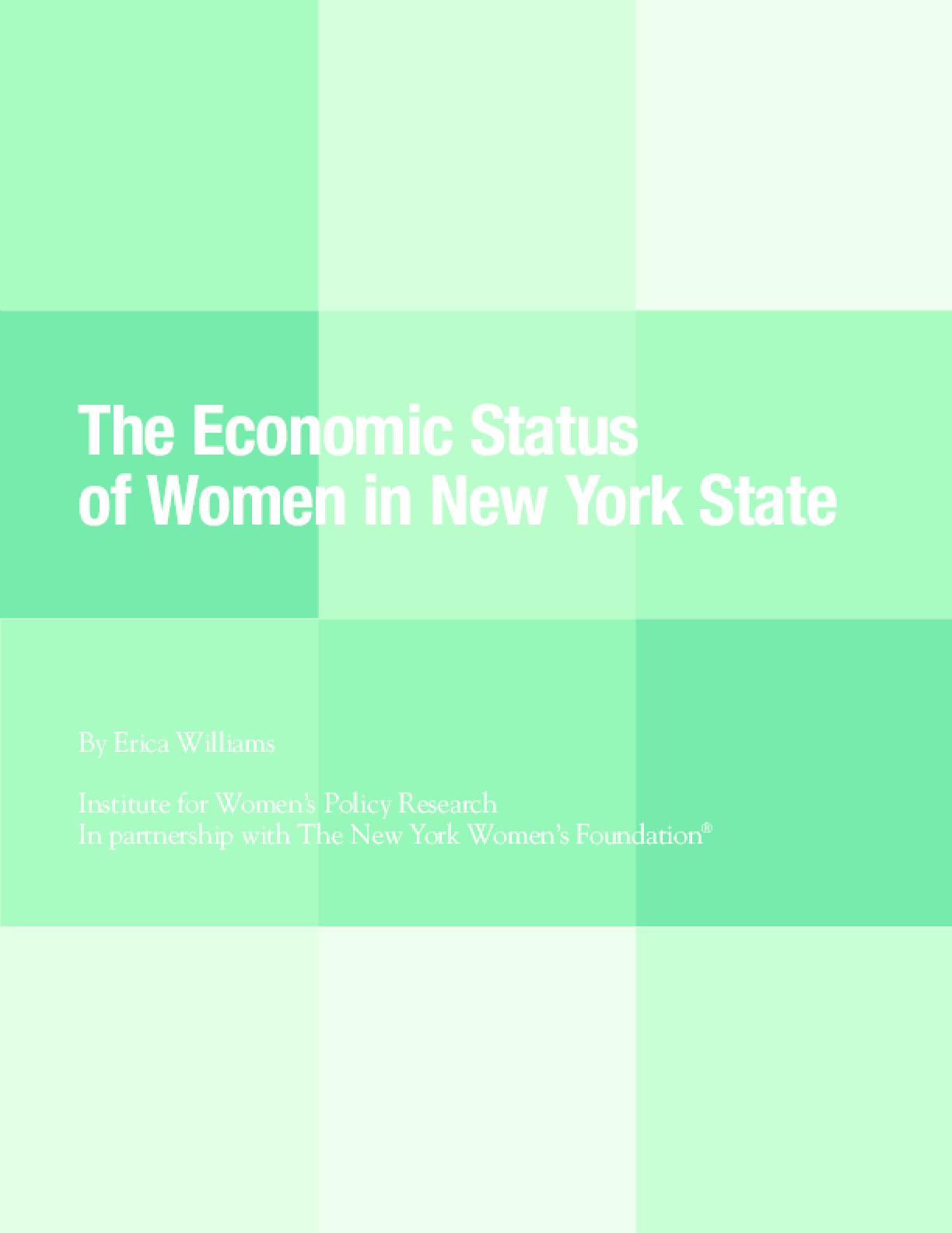The Economic Status of Women in New York State
