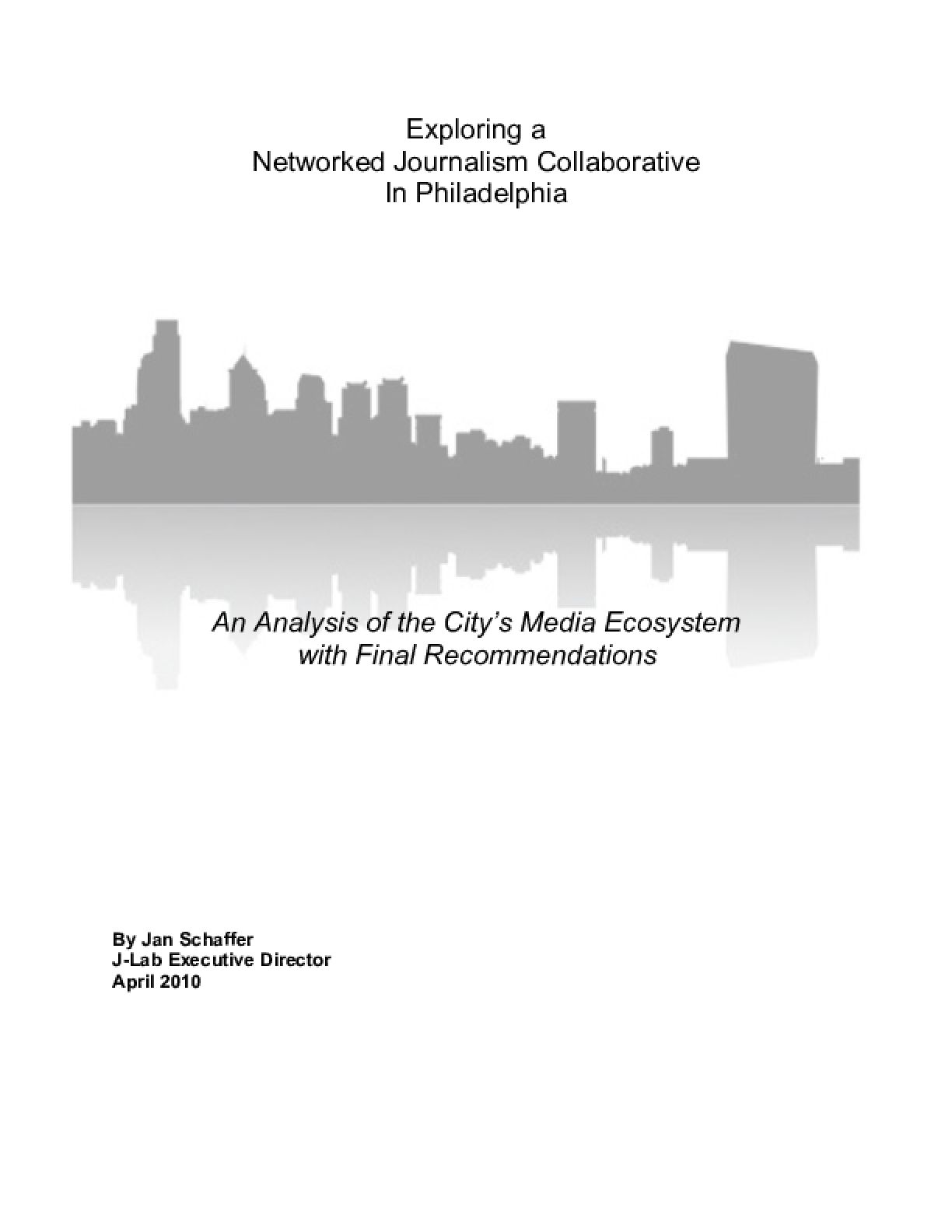 Exploring a Networked Journalism Collaborative in Philadelphia
