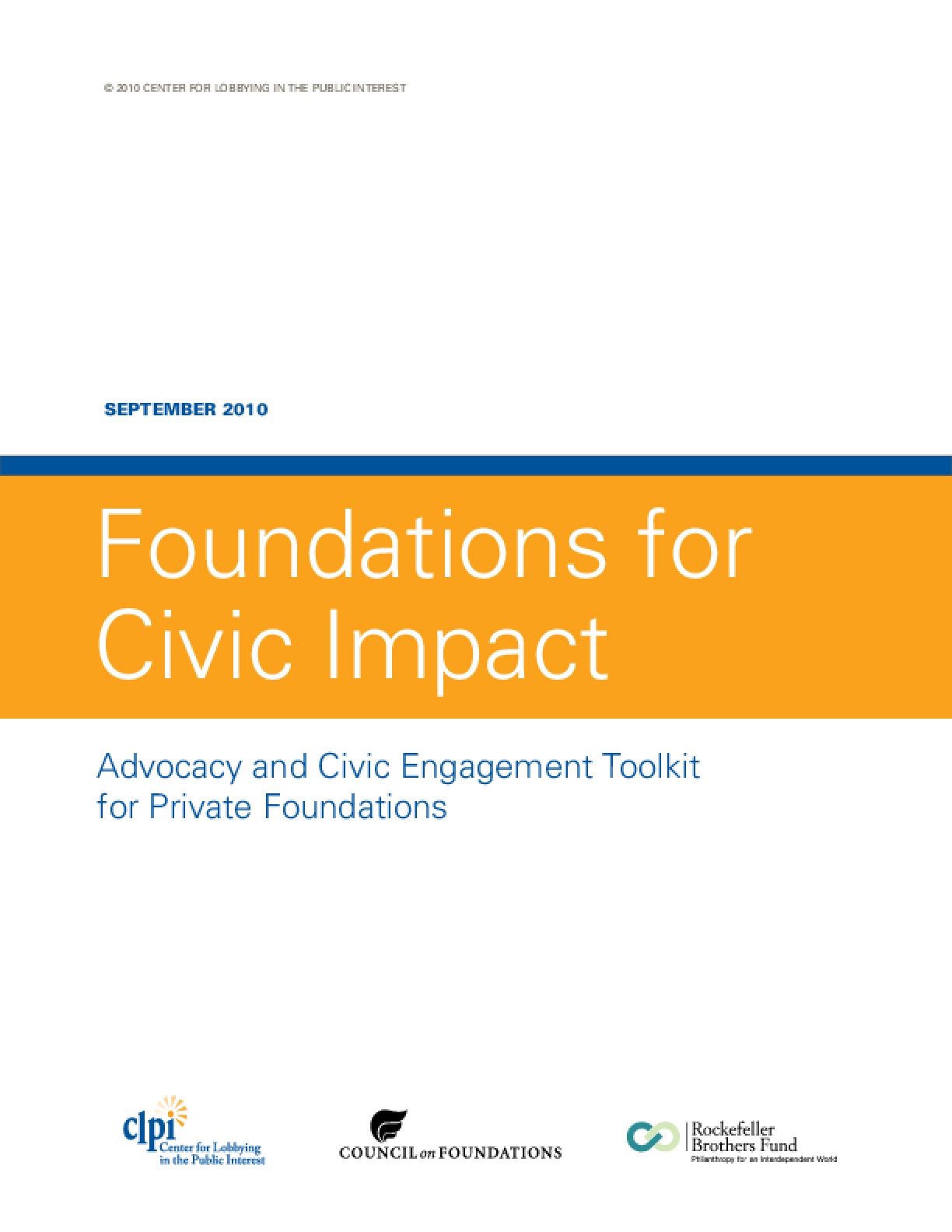 Foundations for Civic Impact: Advocacy and Civic Engagement Toolkit for Private Foundations