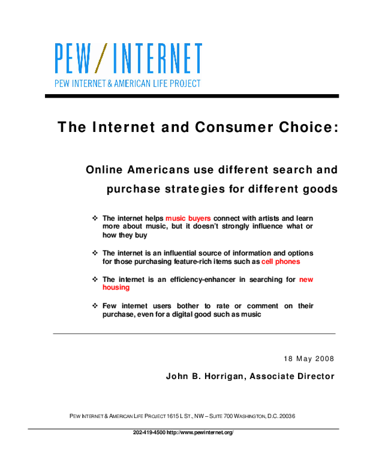 The Internet and Consumer Choice